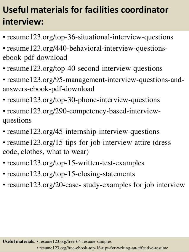 Top 8 Facilities Coordinator Resume Samples