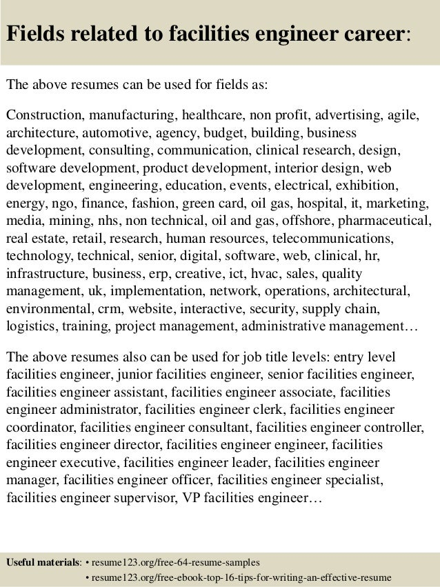 Maintenance And Facilities Engineer Cover Letter Resume ESL  Energiespeicherl Sungen Resume Prasanth