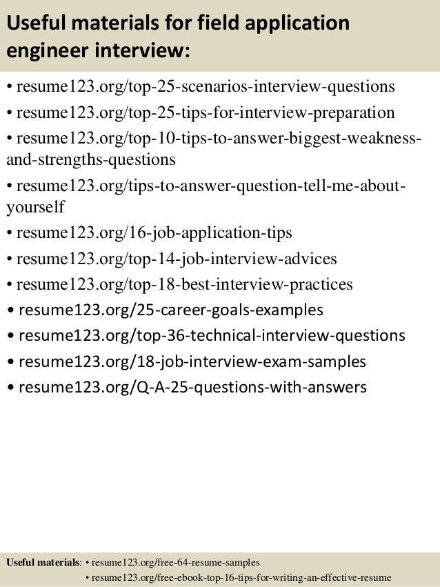 applications engineer resumes