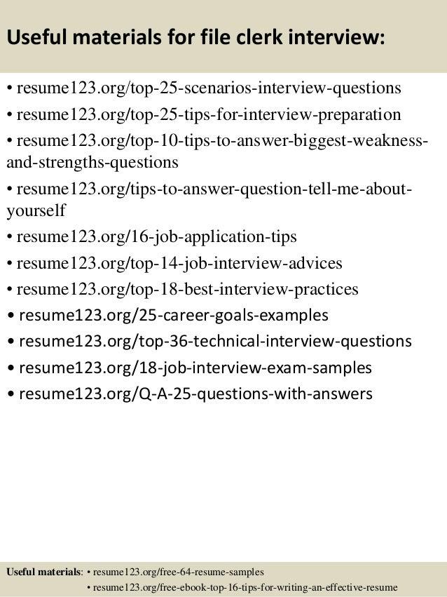 Top 8 File Clerk Resume Samples