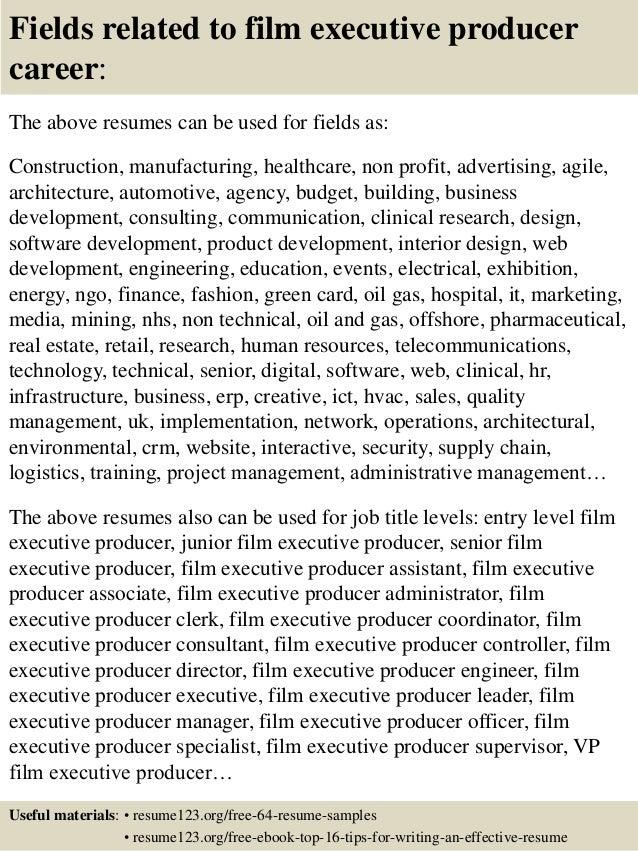 sle resume executive producer resume ixiplay free