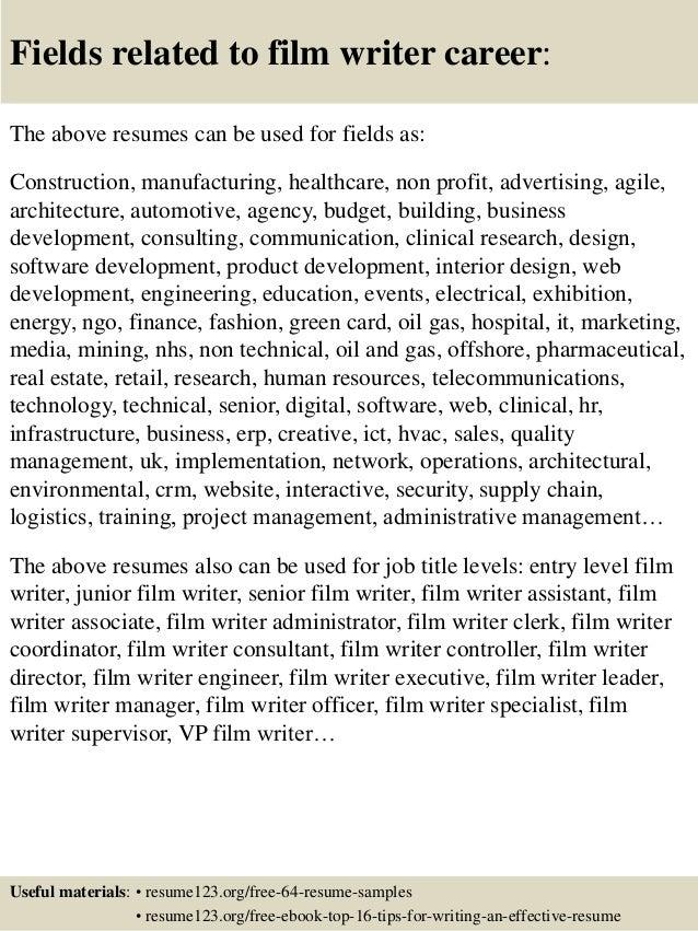 writer resumes