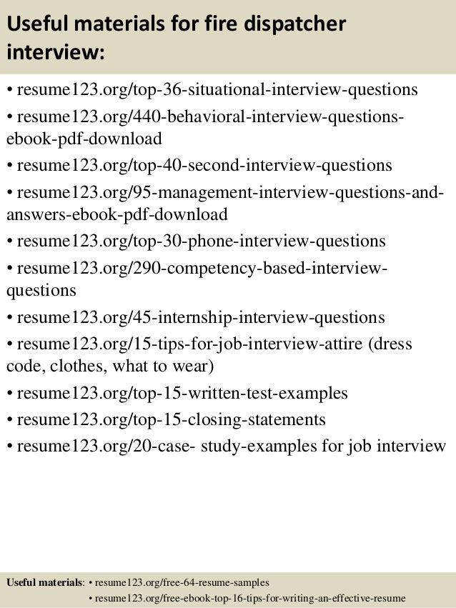 12 - Dispatcher Resume Sample