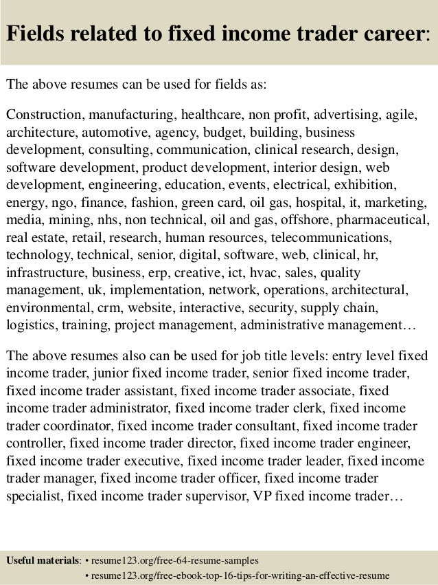 junior trader cover letter