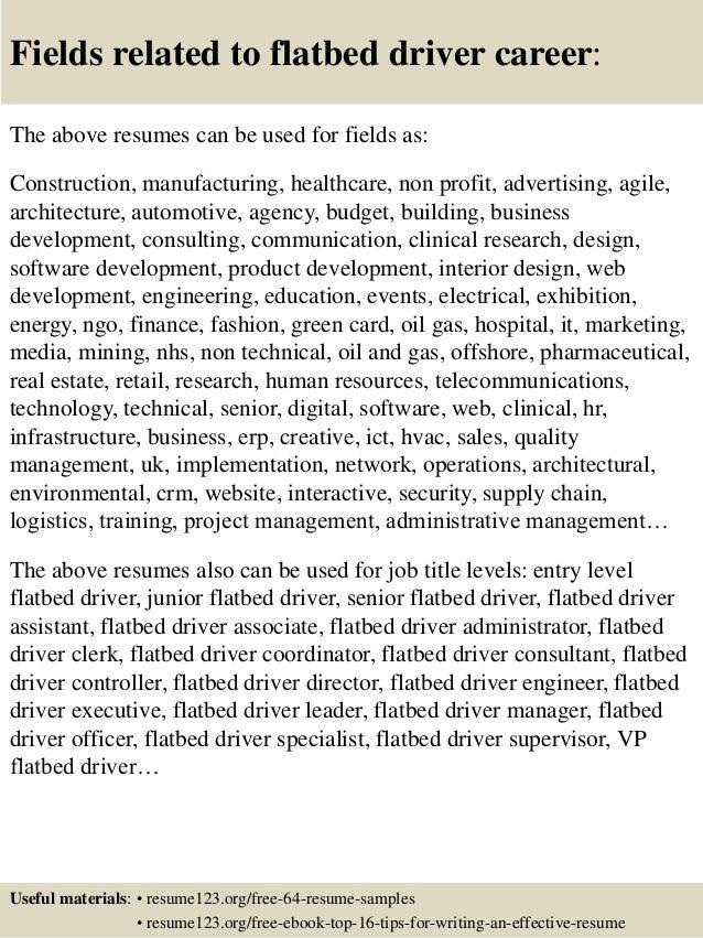executive driver resume