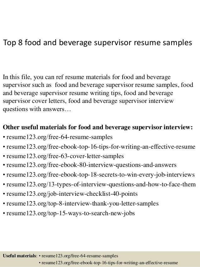 customer service supervisor resume samples