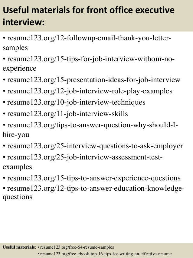 ... Hospitality Resumes Resumes . Elegant ... 14. Useful Materials For  Front Office Executive .