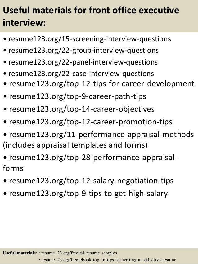 Back Office Jobs Resume Format - Vosvete.Net