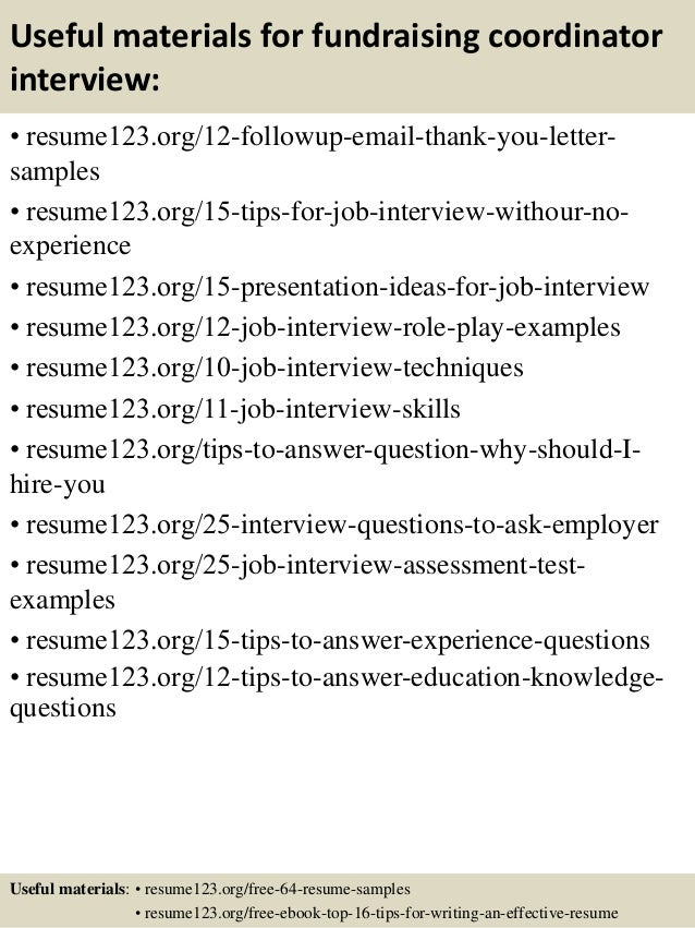 top 8 fundraising coordinator resume samples