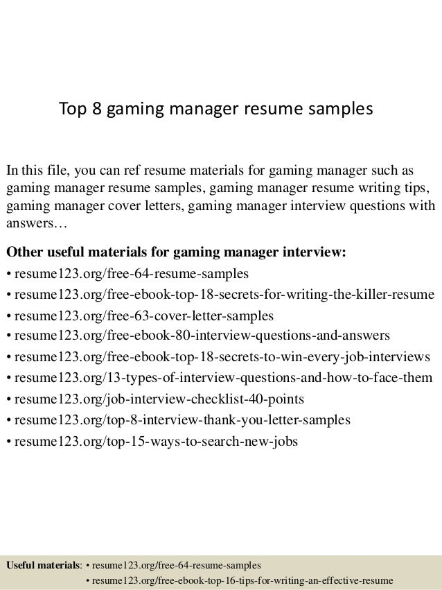 manager skills for resumes