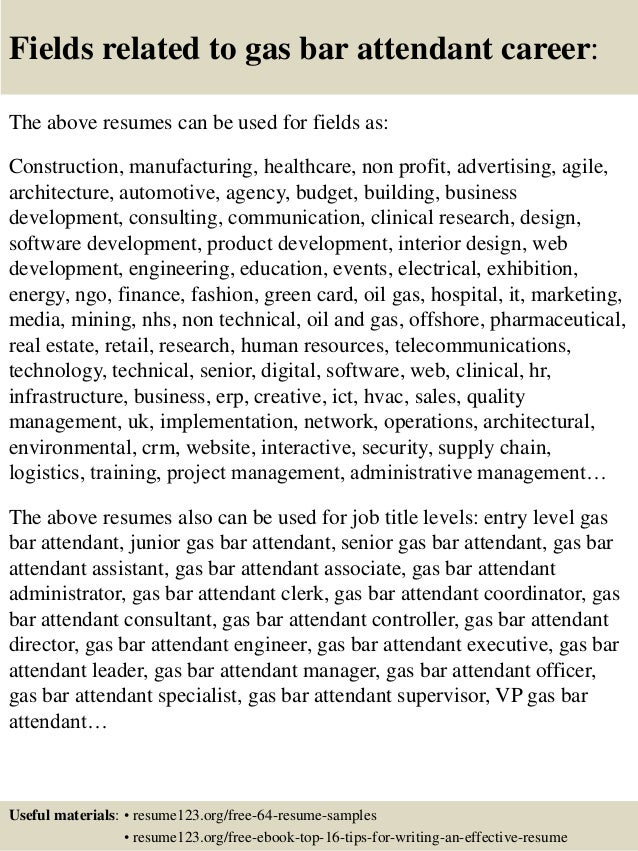Bar Attendant Resume Sample. best housekeeper room attendant resume ...