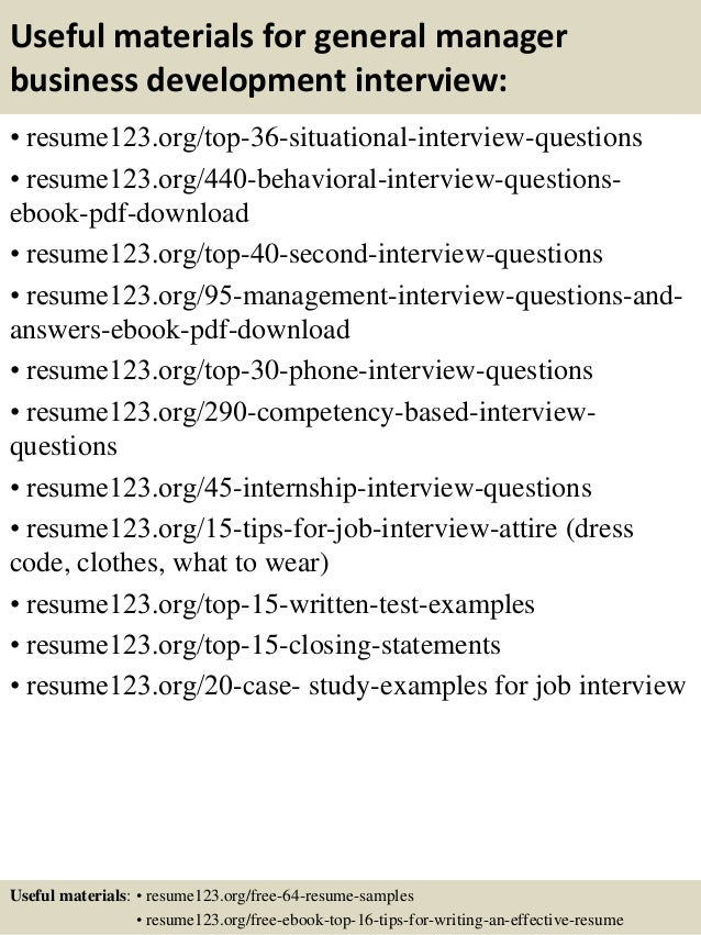 business development resume samples
