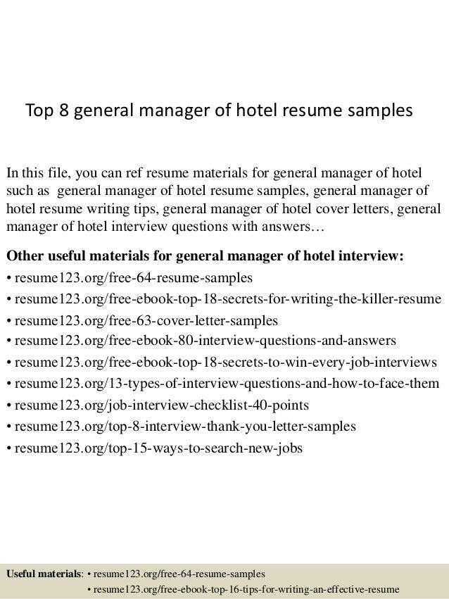 Top 8 general manager of hotel resume samples 1 638gcb1437638213 top 8 general manager of hotel resume samples in this file you can ref resume yelopaper Choice Image