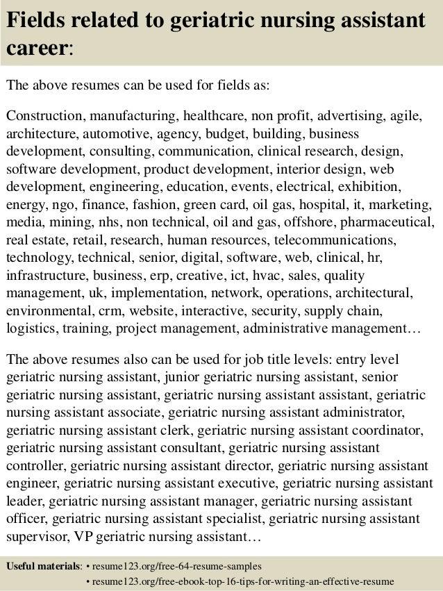 Top 8 Geriatric Nursing Assistant Resume Samples . Nurse Assistant Resumes