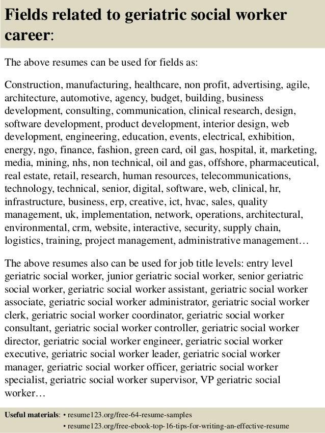 Social Worker Resume Examples Spelndid Social Worker Resume Unusual 16  Fields Related To Geriatric Social Worker