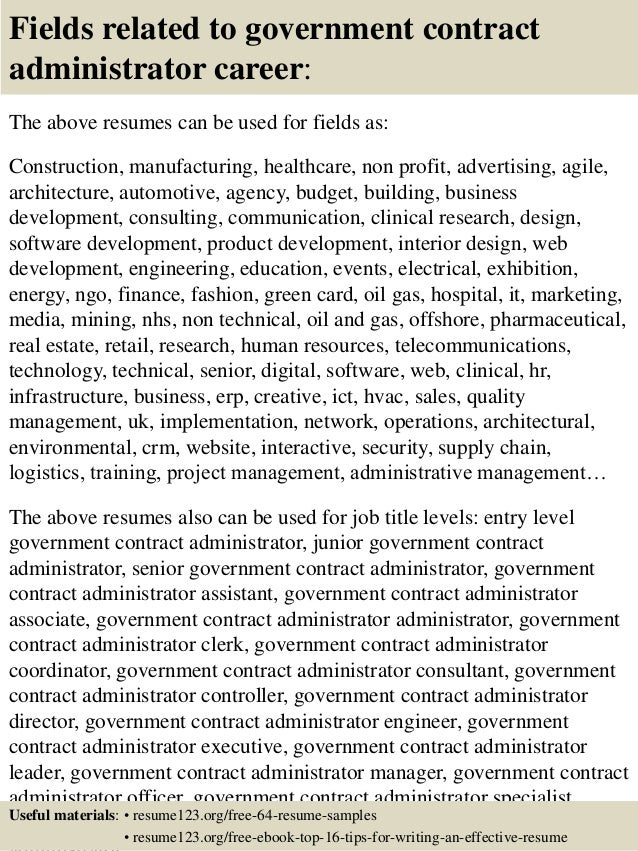 federal government contract specialist resume – Contract Specialist Job Description