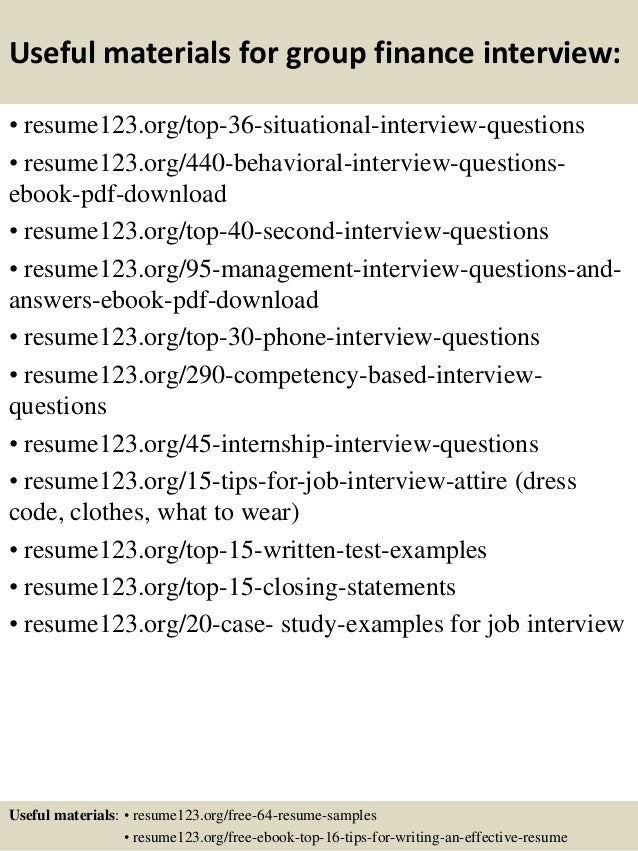 finance interview questions and answers pdf free download