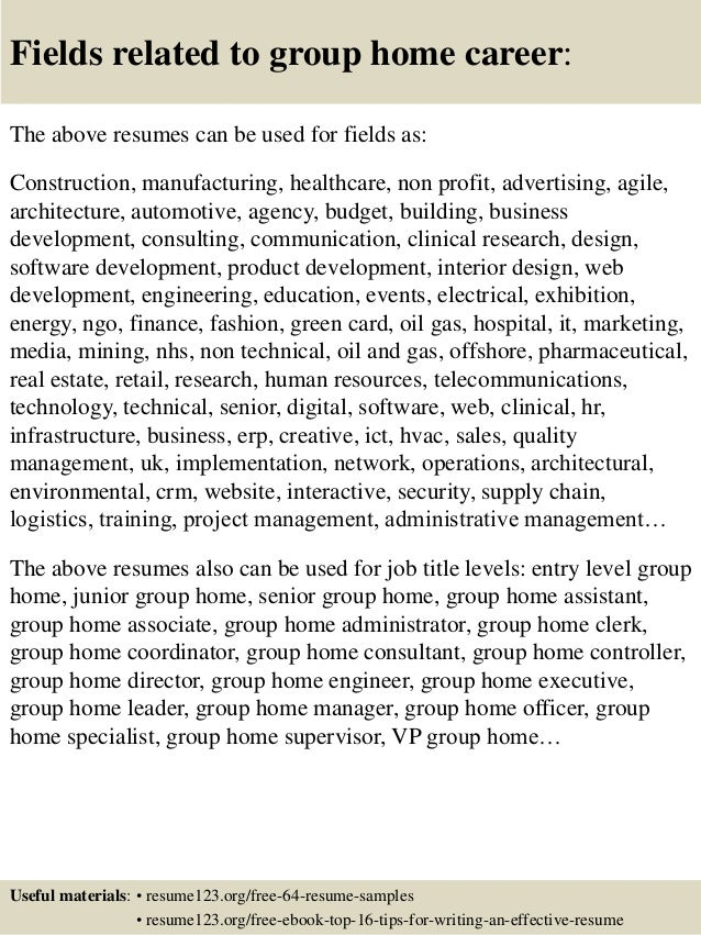 group home worker resume social work consultant cover letter