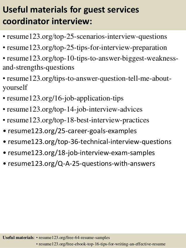 recreation resume