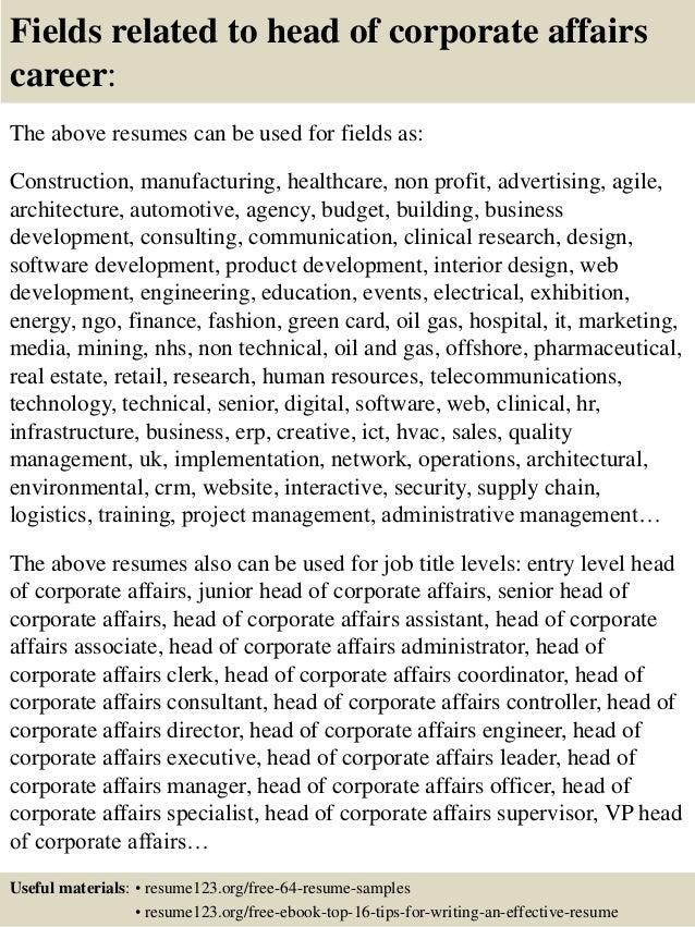SlideShare  Corporate Resume Examples