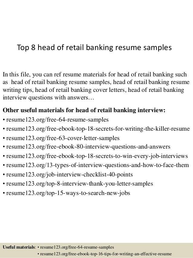 sample resume for retail