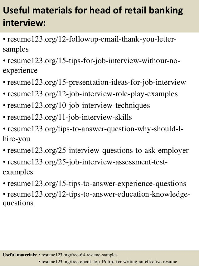 Sample of a Retail Banking Resume Objective - AROJ COM