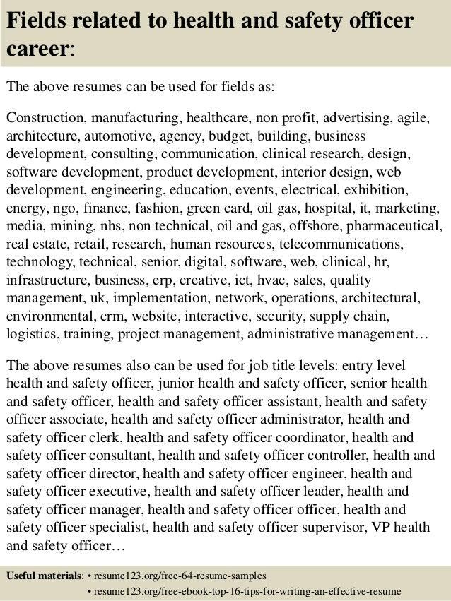 school safety officer resume sample best format