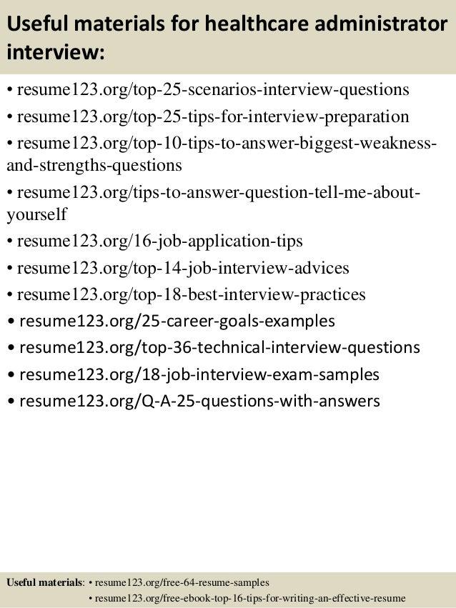 Top 8 healthcare administrator resume samples – Resume Samples Healthcare