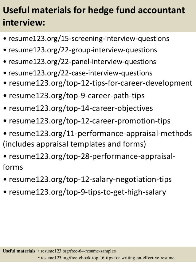 resume samples for fund accountant - Template