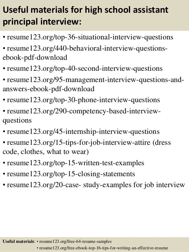 ... 12. Useful Materials For High School Assistant Principal ...  Assistant Principal Resume