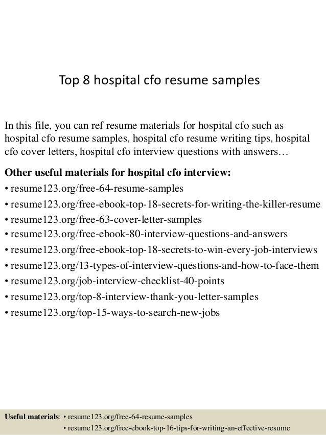 sample cfo resumes