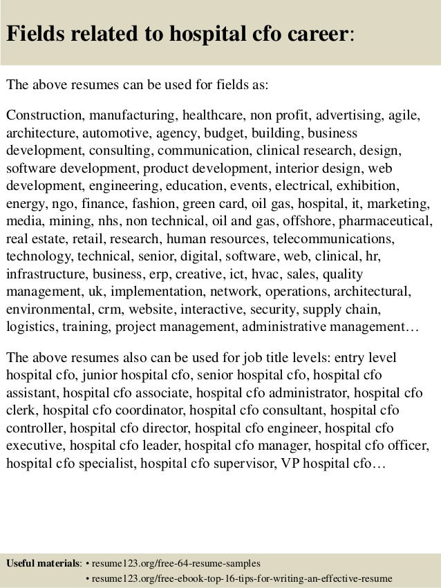 16 fields related to hospital