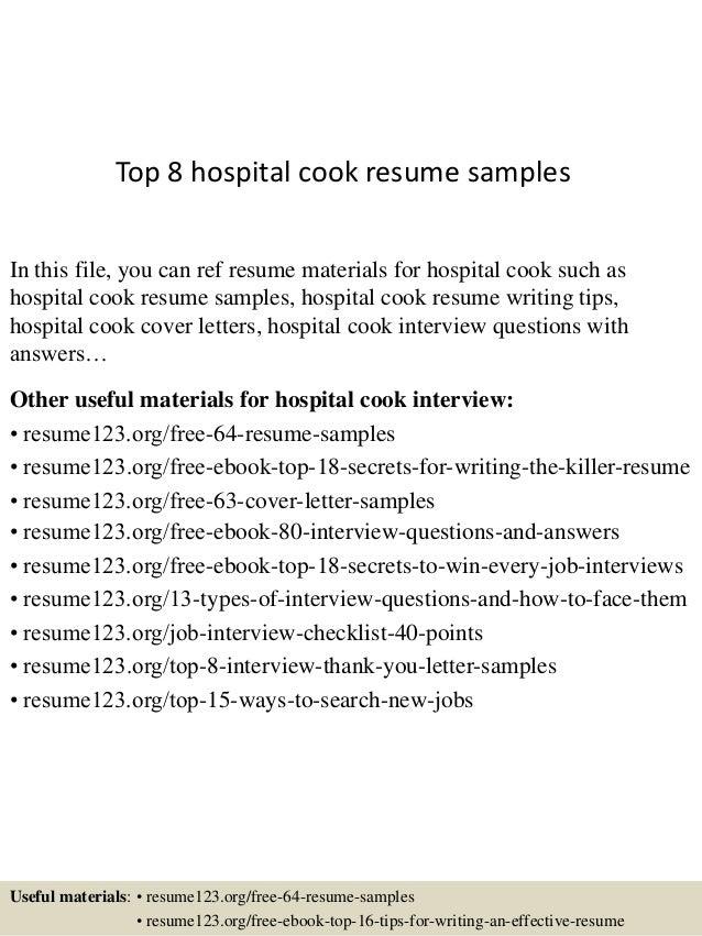 hospital cook cover letter