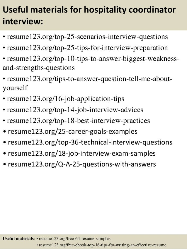 Resume Sample Resume For Hospitality Coordinator top 8 hospitality coordinator resume samples 13 useful materials for coordinator