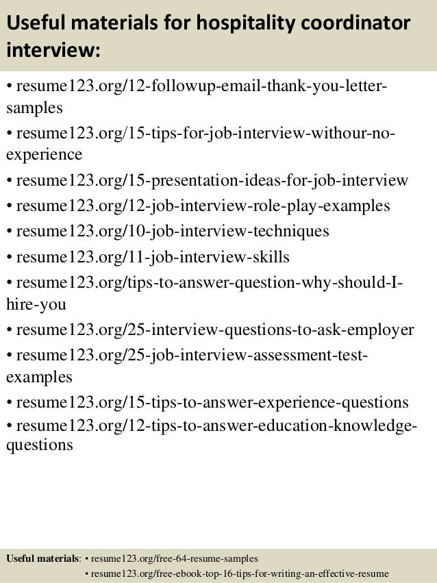 Resume Sample Resume For Hospitality Coordinator top 8 hospitality coordinator resume samples 14 useful materials for coordinator