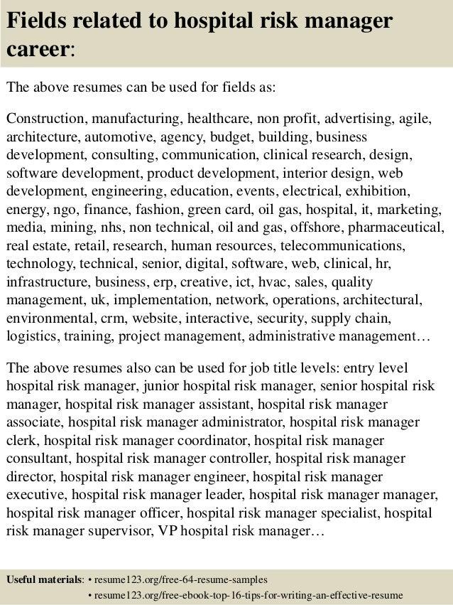 top 8 hospital risk manager resume samples - Nurse Manager Resume Examples