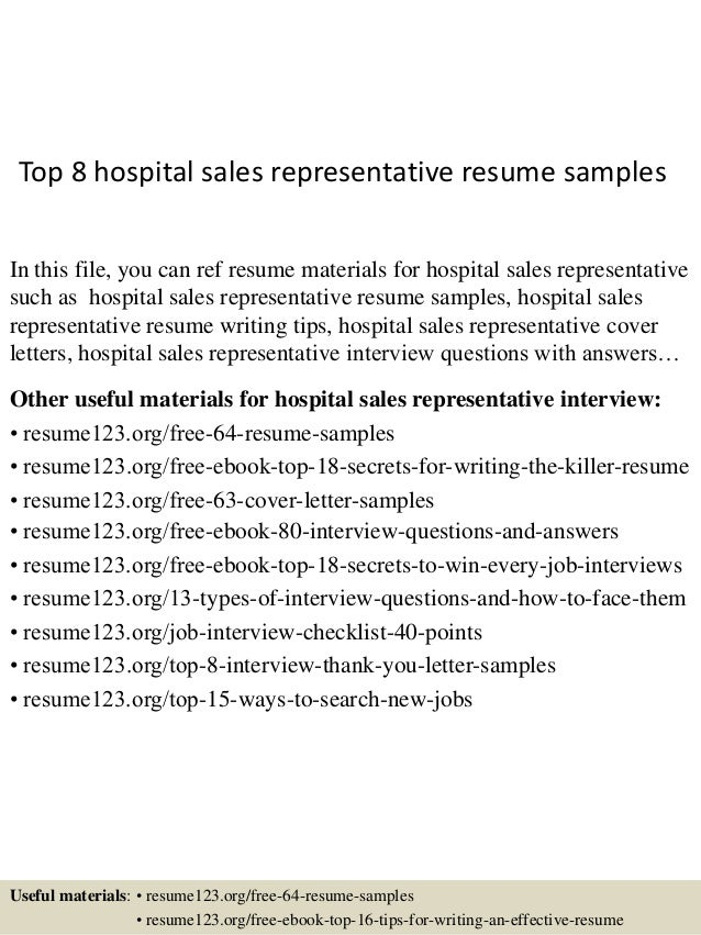 Top 8 hospital sales representative resume samples 1 638gcb1436105856 top 8 hospital sales representative resume samples in this file you can ref resume materials altavistaventures Images