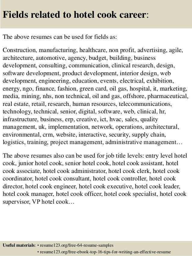 Top 8 Hotel Cook Resume Samples