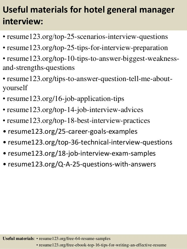 ... 13. Useful Materials For Hotel General Manager ...  Hotel General Manager Resume