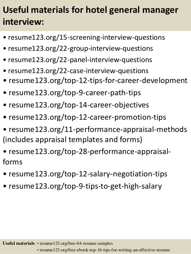 ... 15. Useful Materials For Hotel General Manager ...  Hotel General Manager Resume