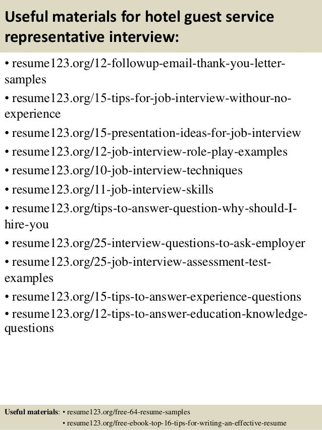 top 8 hotel guest service representative resume sles top 8 hotel guest service representative resume sles
