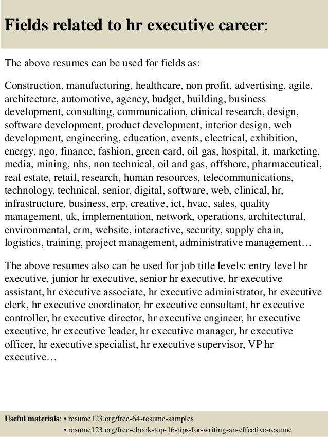 Top 8 hr executive resume samples – Hr Executive Resume