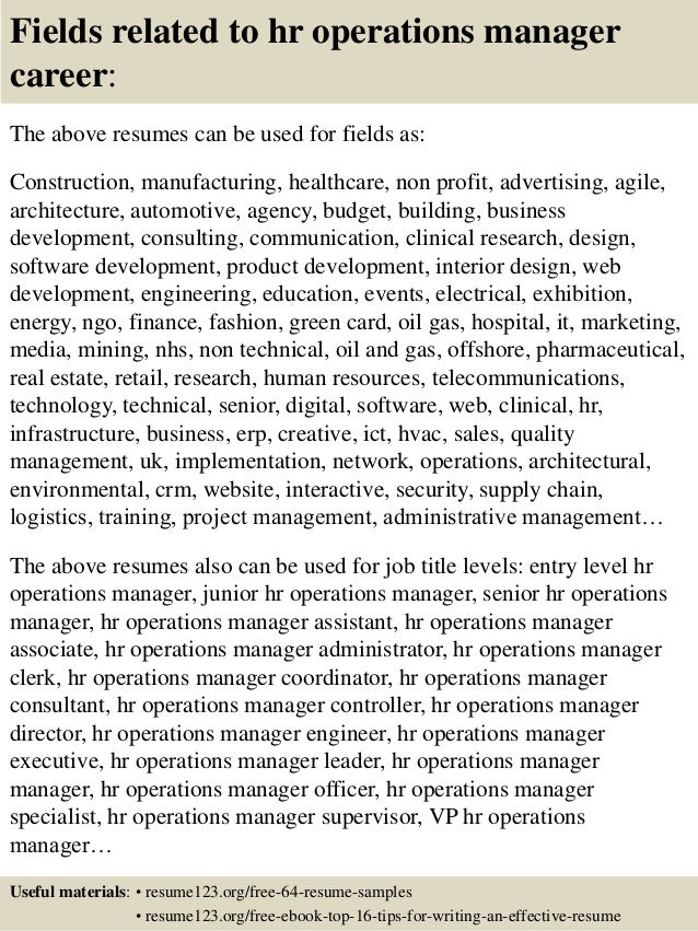 ... 16. Fields related to hr operations ...