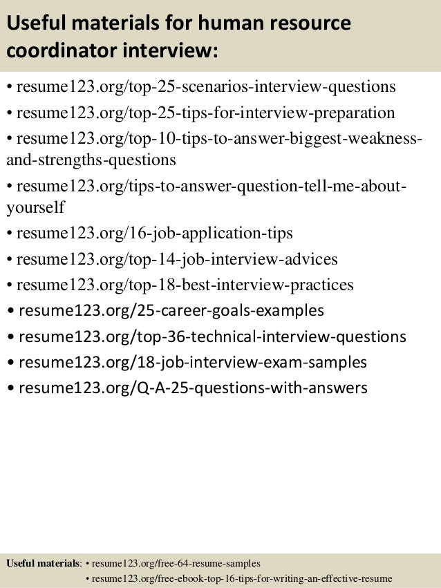 ... 13. Useful Materials For Human Resource Coordinator ...
