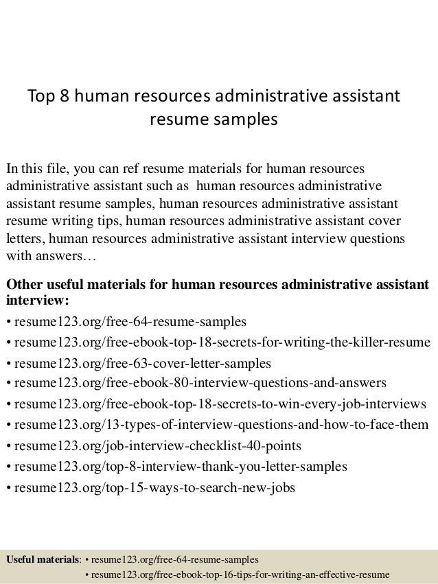 cover letter for human resources administrative assistant