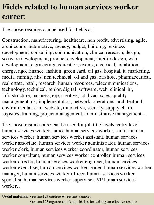 Human service worker cover letter