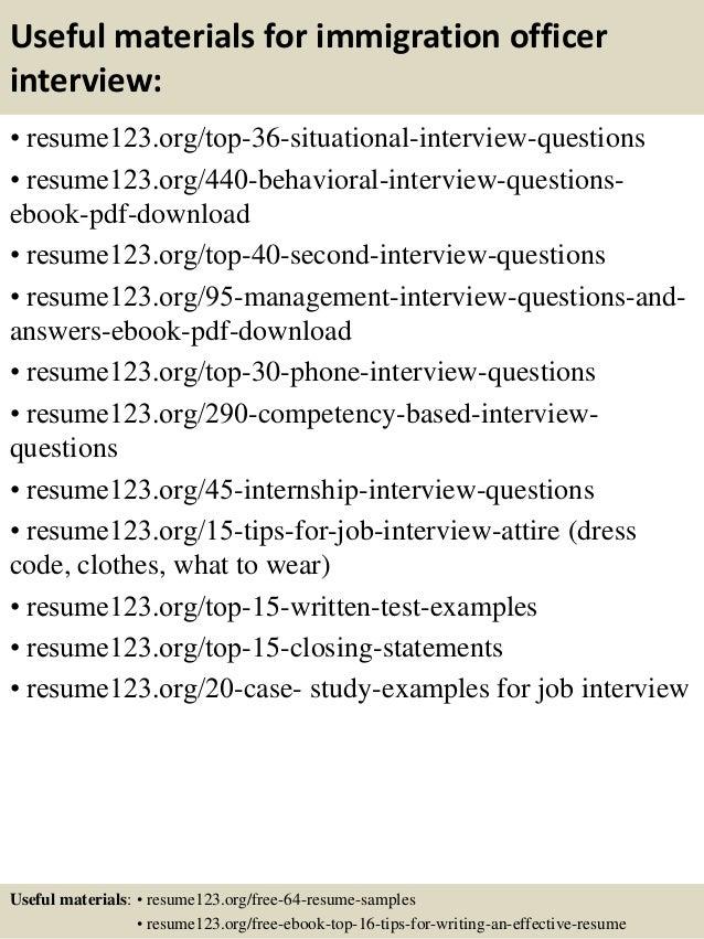 Top 8 immigration officer resume samples