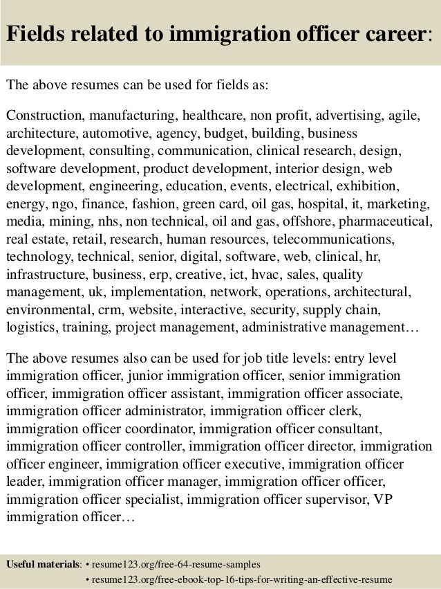 immigration services officer cover letter