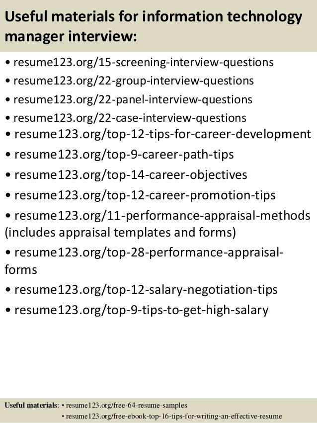 information technology resume samples