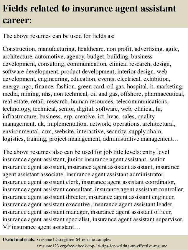 Resume Insurance Agent. Health Insurance Agent Sample Resume